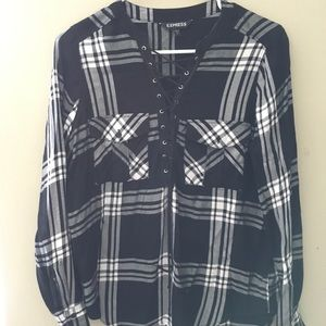 Long sleeve flannel shirt from Express.